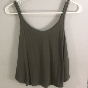 NWOT Garage army green ribbed flowy tank top